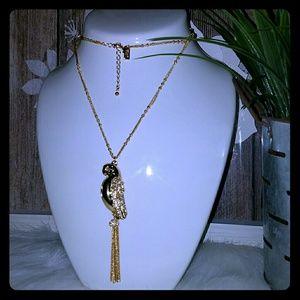 Kate spade parrot locket necklace